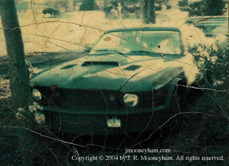 Actual rare photo of front end of the 1969 Ford Mustang Mach 1 supercar Shadowfast in near final form.